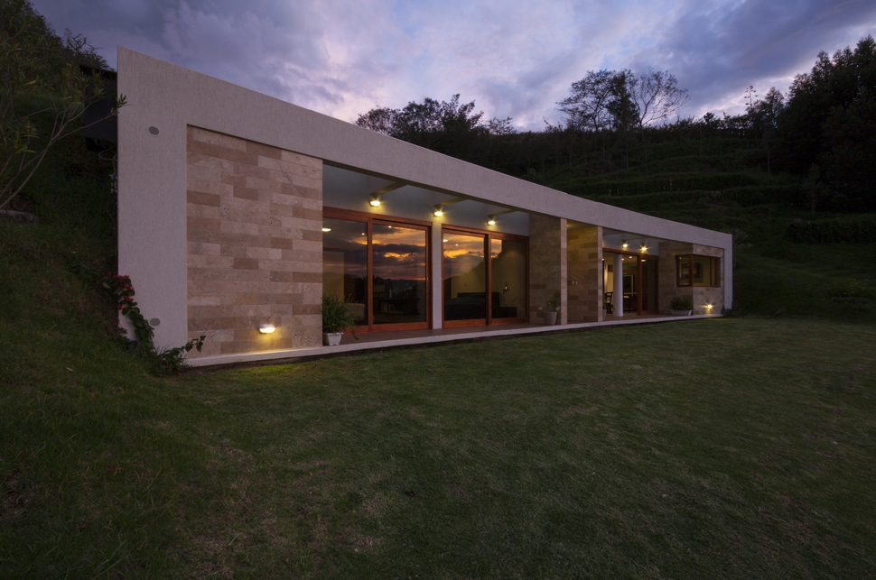 House Built into a Hill