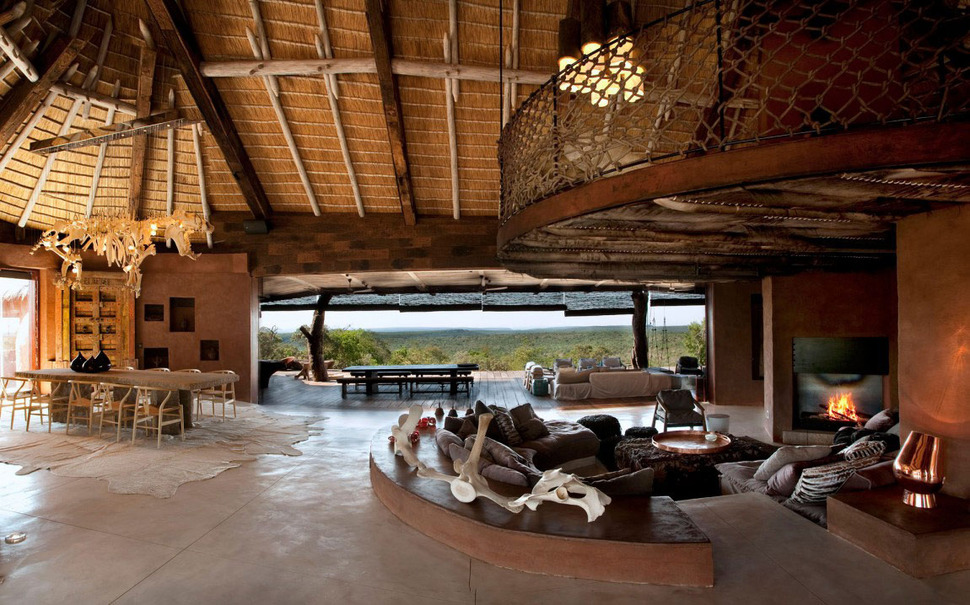 South African Villa with Cave Like Interiors and Observatory