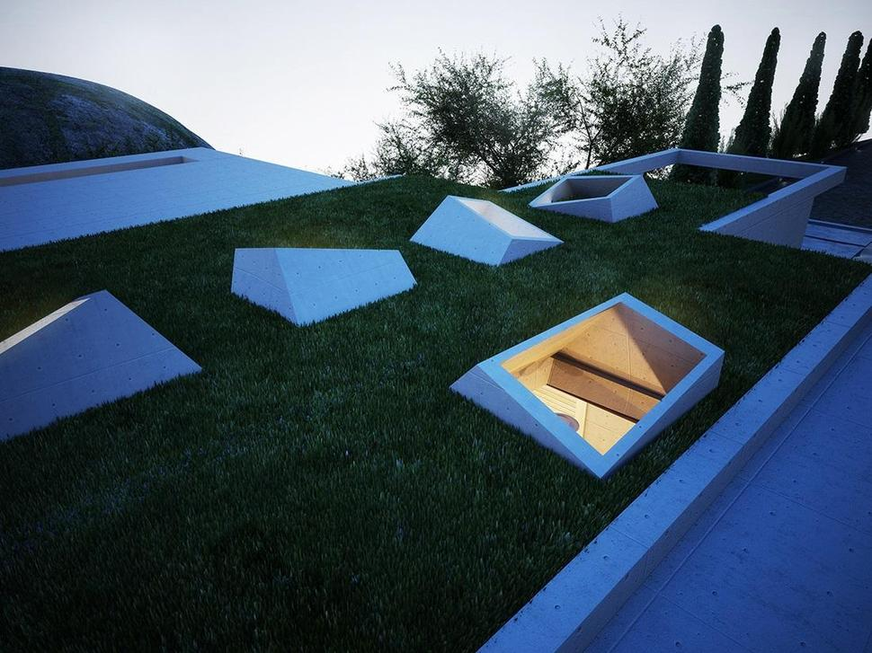 kitchen floor covering inexpensive remodel creatively semi buried home rises from the earth like art