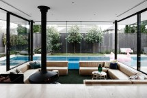 Sunken Lounge Room Surrounded Pool