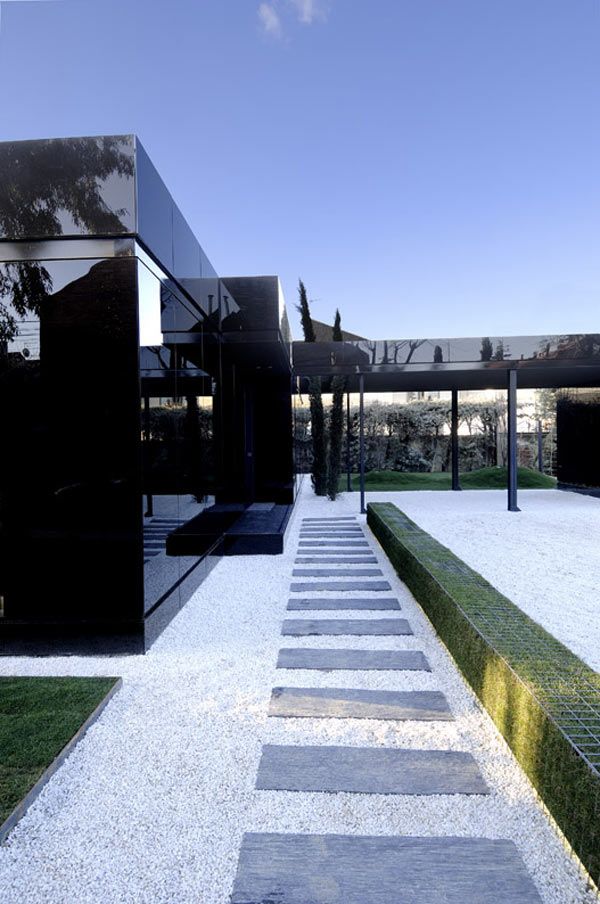 Glass Prefab Homes  Black Glass Modular Home Design by ACero