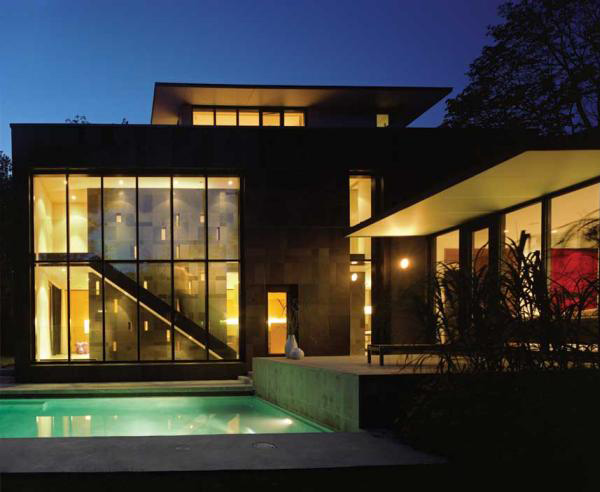 Eco Friendly Home Design In Toronto A Window With A Waterfall