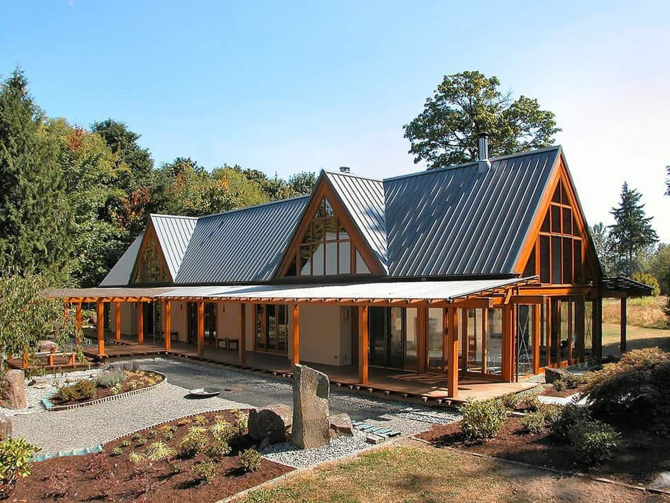 Cabin Chic Mountain Home Of Glass And Wood