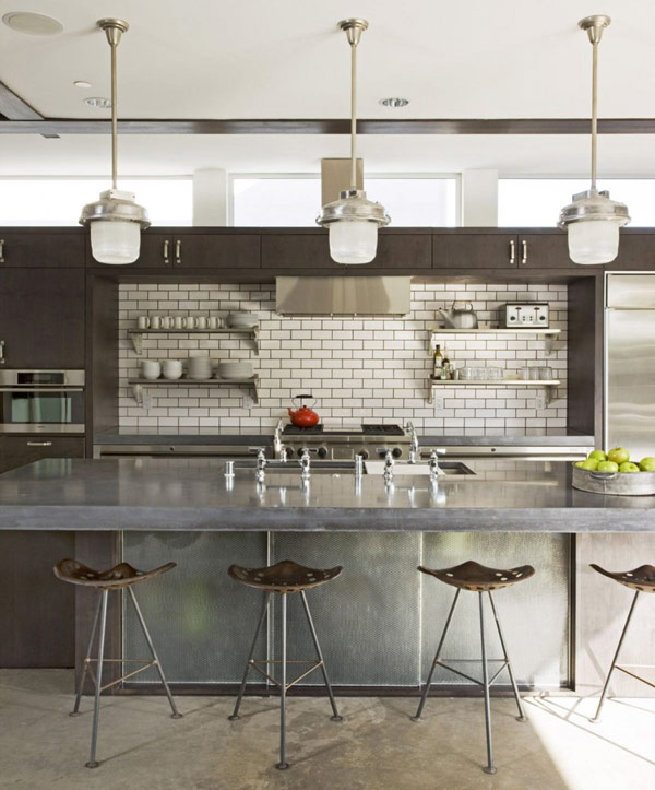Industrial Style House Plan Suburban Exterior Industrial Interior