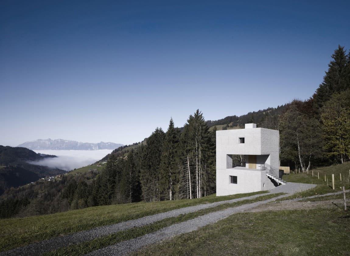 Cubic Concrete Mountain Cabin by MarteMarte Architekten