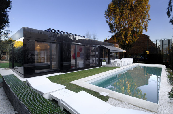 Glass Prefab Homes Black Glass Modular Home Design By A Cero