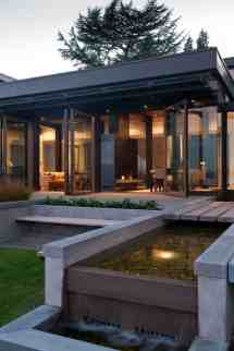 Modern Home with Water Feature