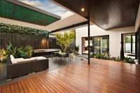 Indoor outdoor house design with alfresco terrace living area