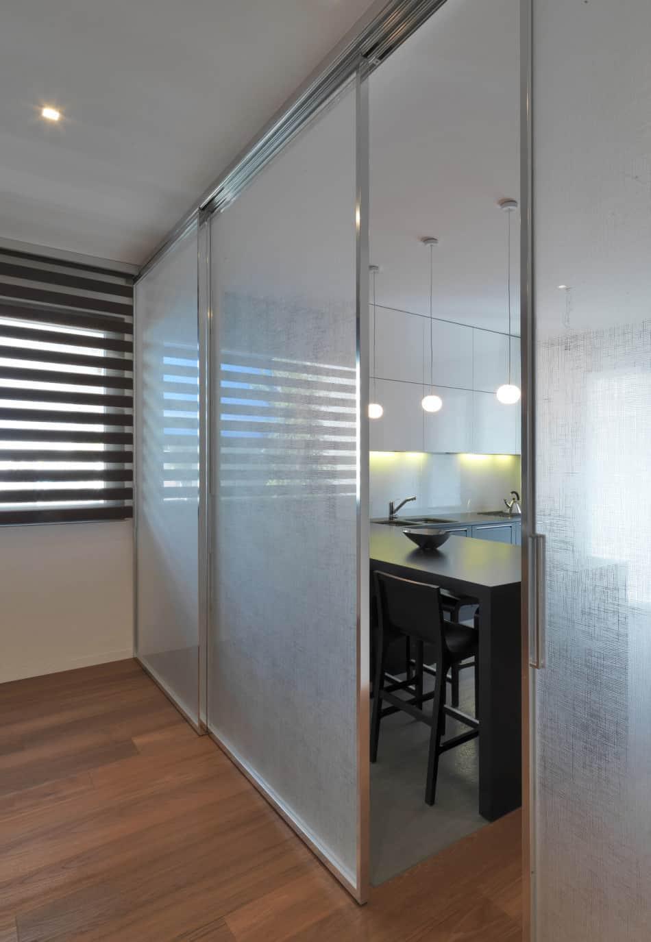 how to design a kitchen layout kohler farmhouse sink italian maze house with geometric exterior, sliding ...
