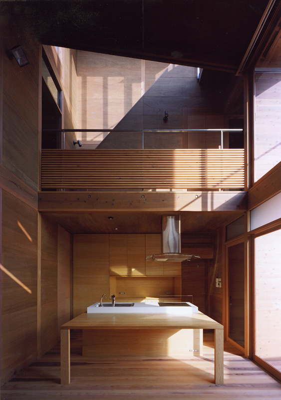 Japanese Wooden Houses courtyard multilevel decks and a