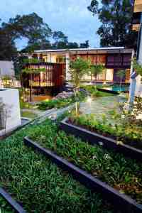 Luxury House with Layered Gardens and Screened Circular ...