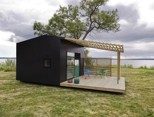 Modern Mini House Makes A Big Impression A Prefab In Sweden By