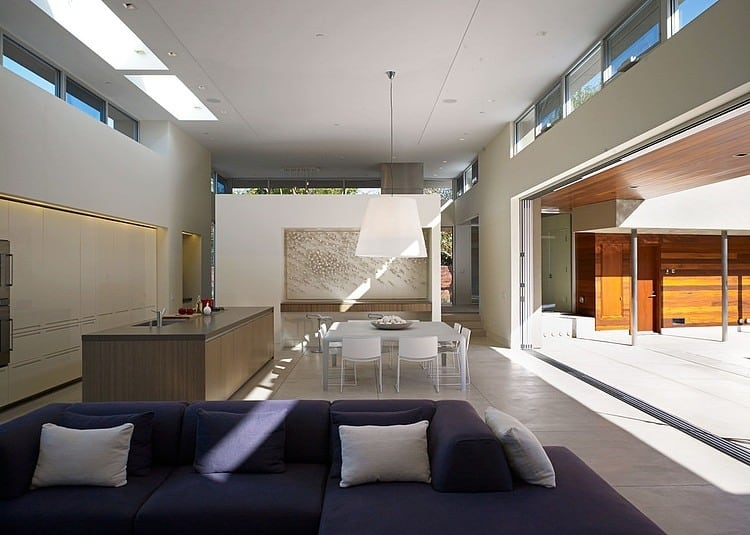 big kitchen island aid mixing bowls modern u-shaped california home with central patio