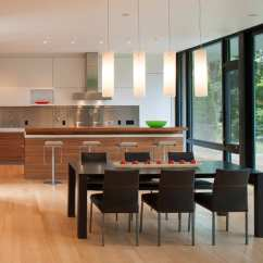 Contemporary Kitchen Backsplash Wall Decorations For Modern Box House With Interior Glass Bridges