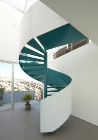 House with a Spiral Turquoise Staircase