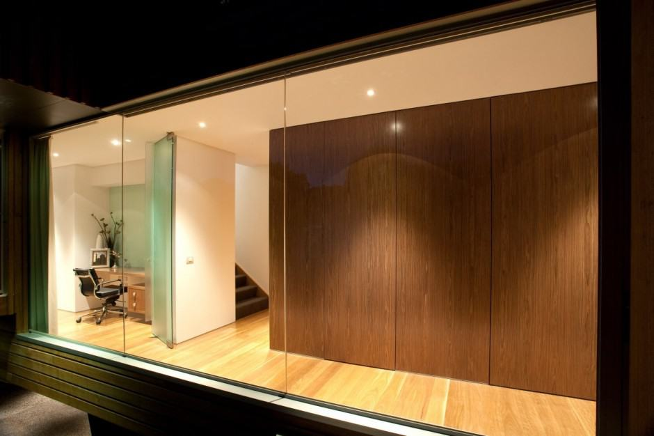 swinging kitchen door floor tile designs innovative glass home architecture by vibe design group