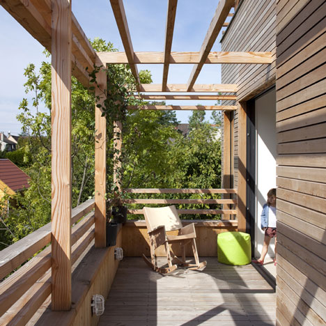 Open Roof House Sustainable Wood Architecture with Style