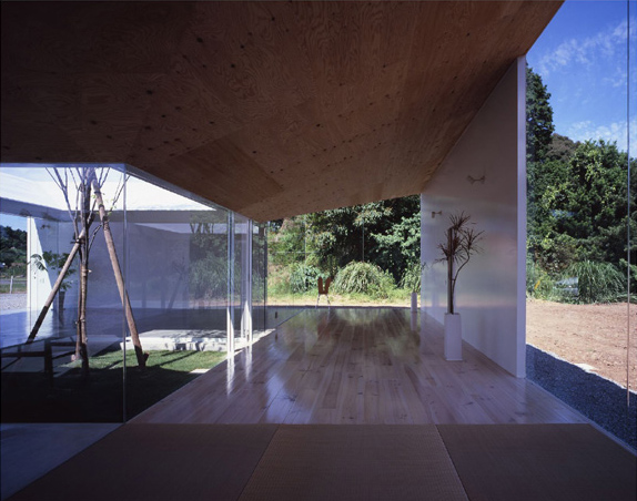 Japanese Minimalist Architecture Meets Nature In The Interior Courtyard