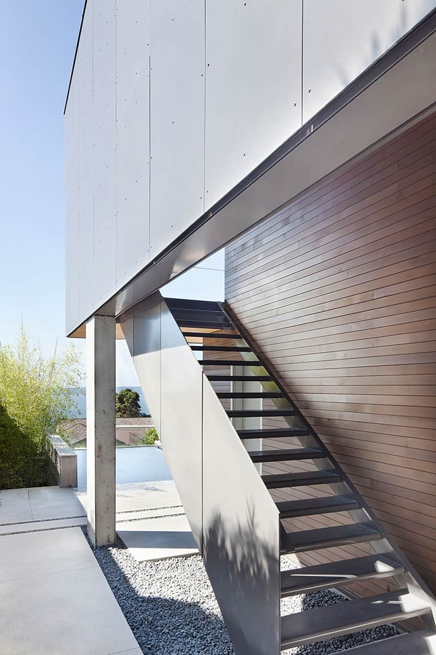 Sleek Sl*P* House With Interior Featuring Concrete | Outside Stairs For House