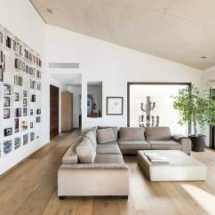 Corner Storage Unit Living Room Color Schemes Brown Couch Spanish Family Home With Comfortably Contemporary Open ...