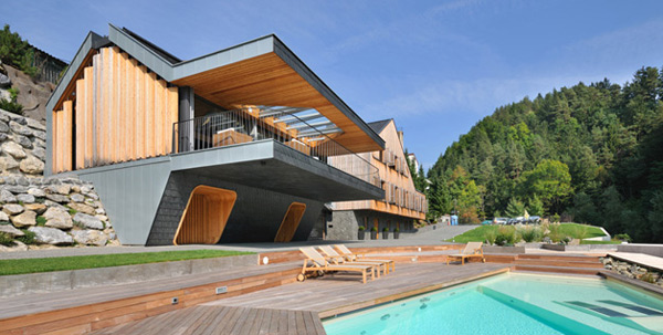Progressive Architecture Timber And Stone Two Homes In One Design