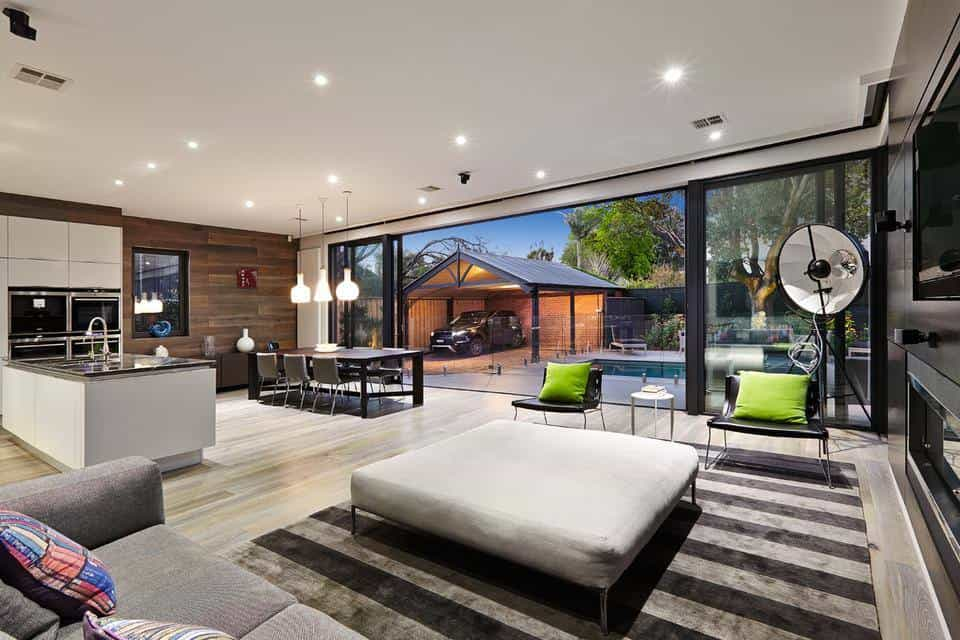 small open plan kitchen diner living room modern interior design ideas ideal dining and space combination idea ...