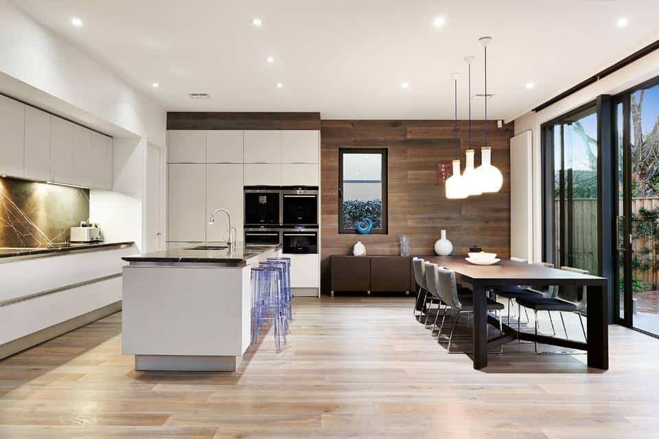 L Shaped Kitchen Dining Living Room Designs