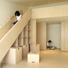 Suspended Stair Design By 123Dv In Dark Wood And White Frame   Dark Wood And White Stairs   Light   Contrast   Brick Wall Dark Stain   Flooring   Carpet