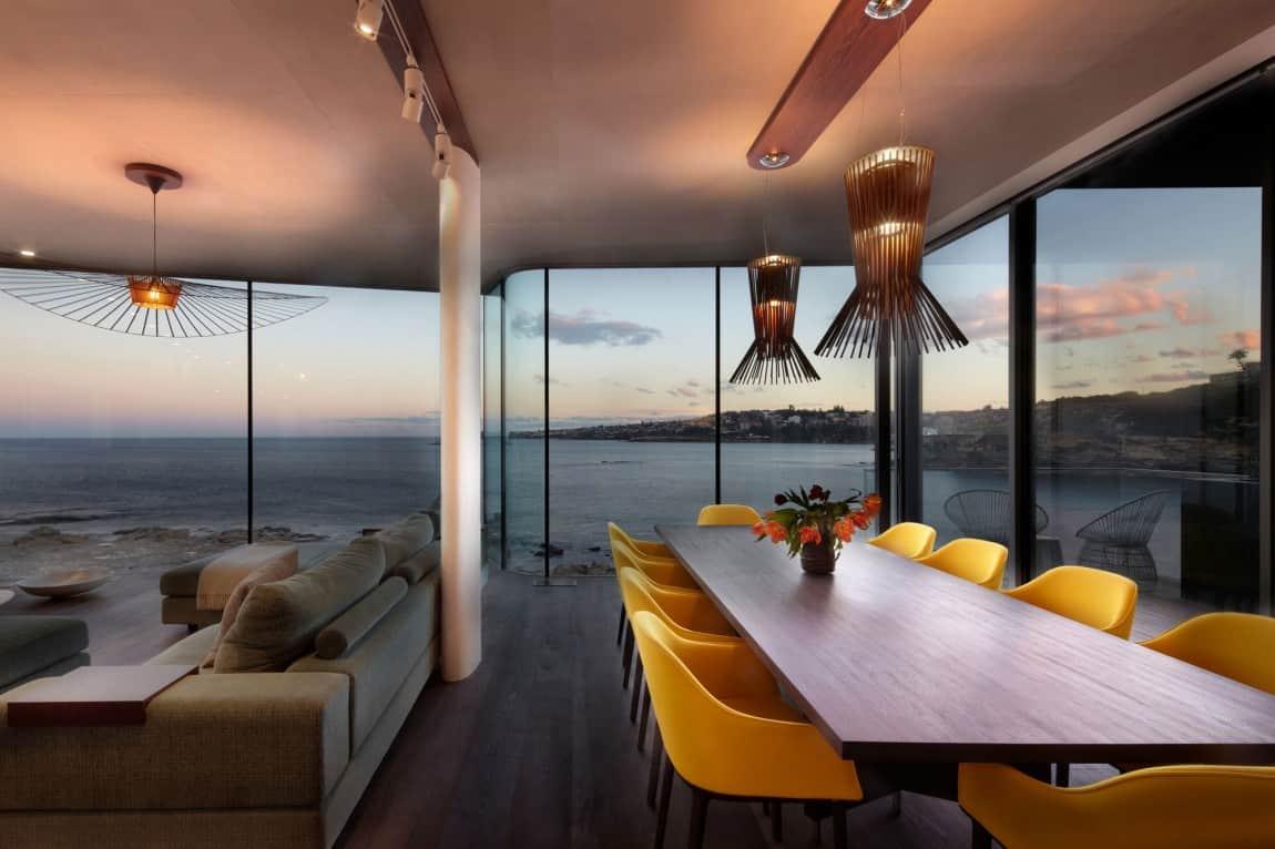 hanging light fixtures living room wall shelves decorating ideas ocean view designed for maximum views