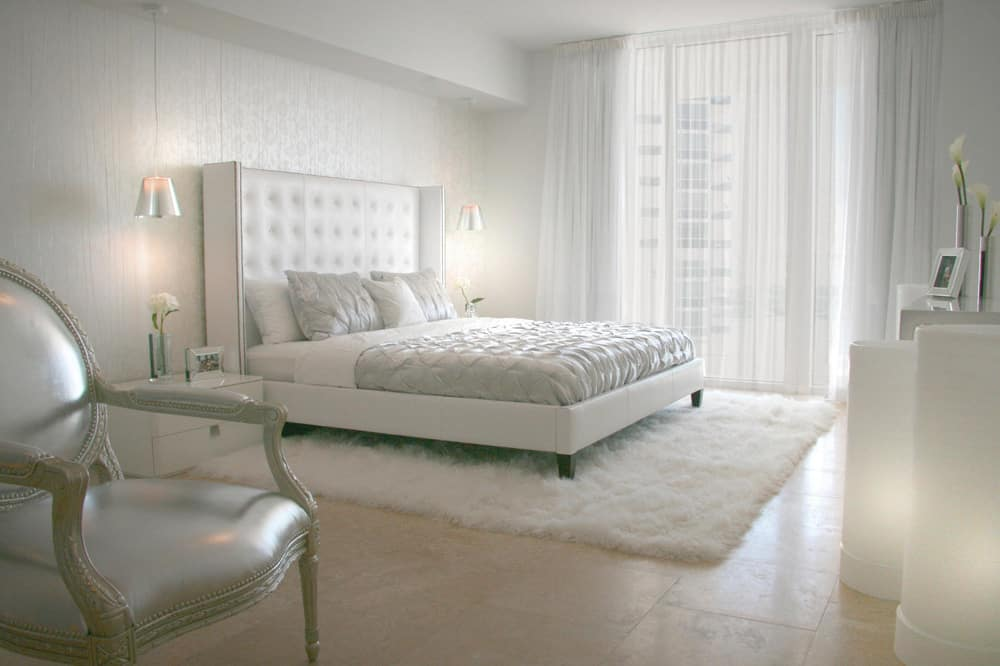 all white living room ideas dark grey walls interiors 25 design for the color of light as with previous bedroom example this modern brings in geometry within duvet cover tufted headboard and furniture shapes but