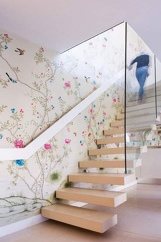 Colorful Staircase Designs 30 Ideas To Consider For A Modern Home   Designs For Staircase Wall   Partition   Classy   Attractive   Luxury   Transitional