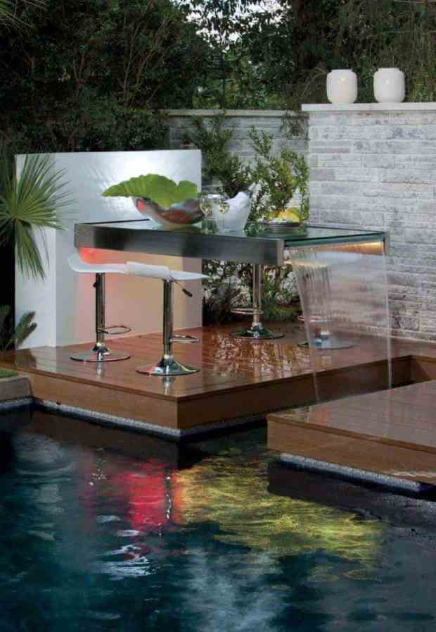 Outdoor Waterfall Table