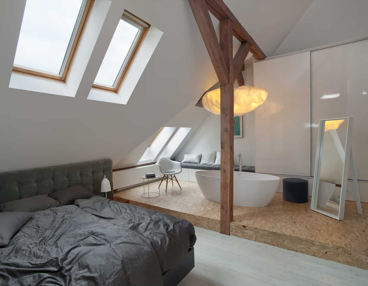 Office Attic Converted Into Loft Apartment Keeping