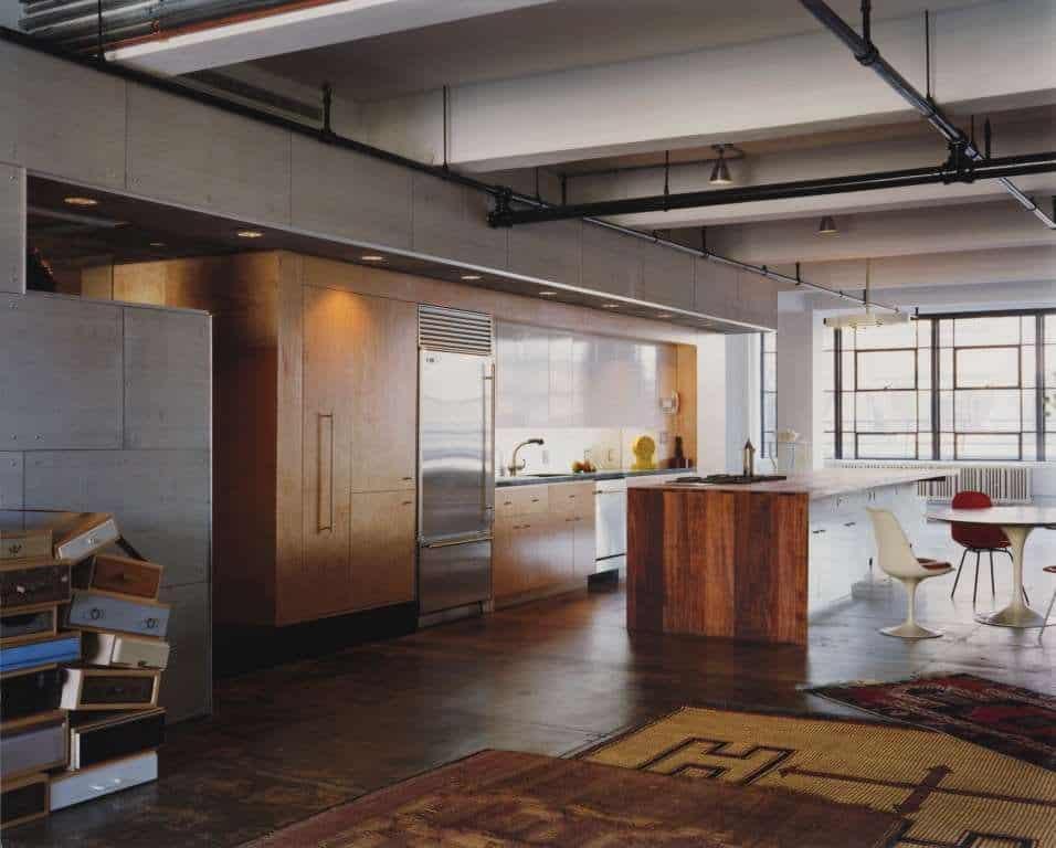 Eclectic Loft with Acidetched Concrete Floors