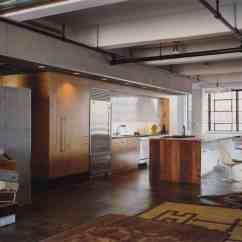 Etched Glass Kitchen Cabinet Doors Fruit Decor Eclectic Loft With Acid-etched Concrete Floors