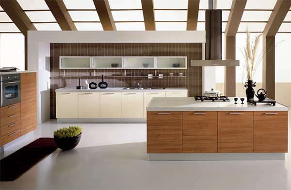 Kitchen With An Open Ceiling Concept
