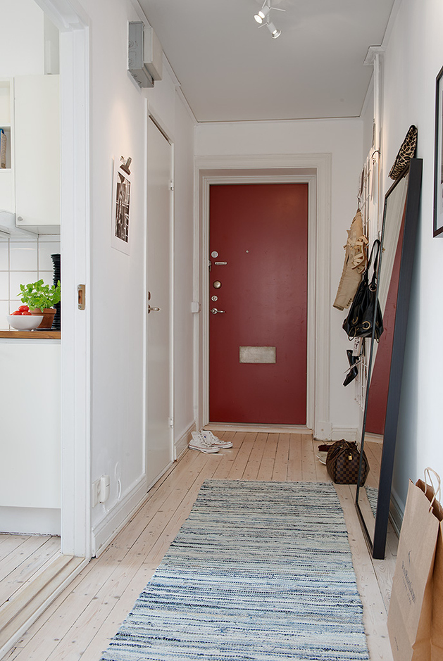 rug for kitchen table mobile kitchens casually comfortable decor-driven apartment in sweden