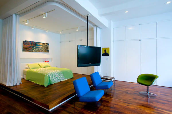 Creative Solutions for Small Loft Apartment