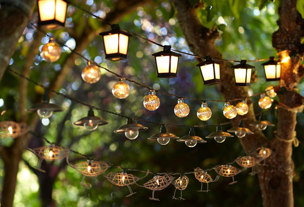 eclectic outdoor lighting ideas by