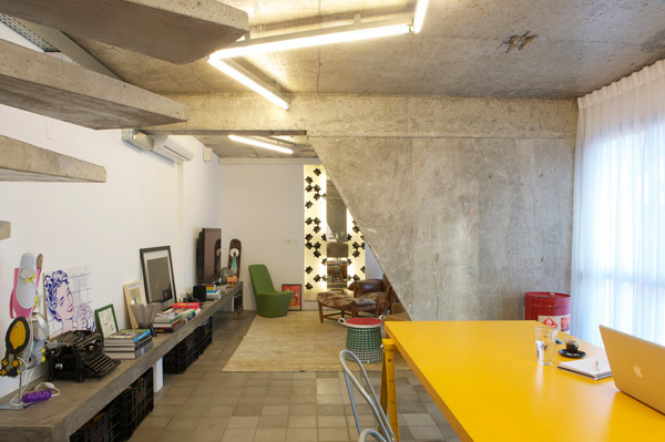 Exposed Concrete Interior Design in Sao Paulo