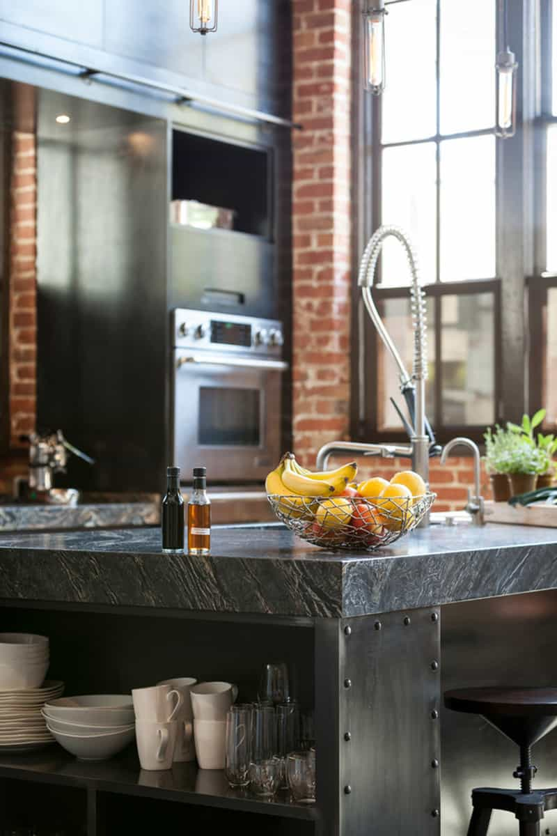 industrial kitchen stools brass hardware style design ideas (marvelous images)