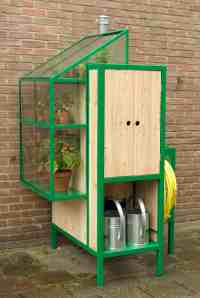 The Watercabinet Is A Rainwater Storage System And Greenhouse