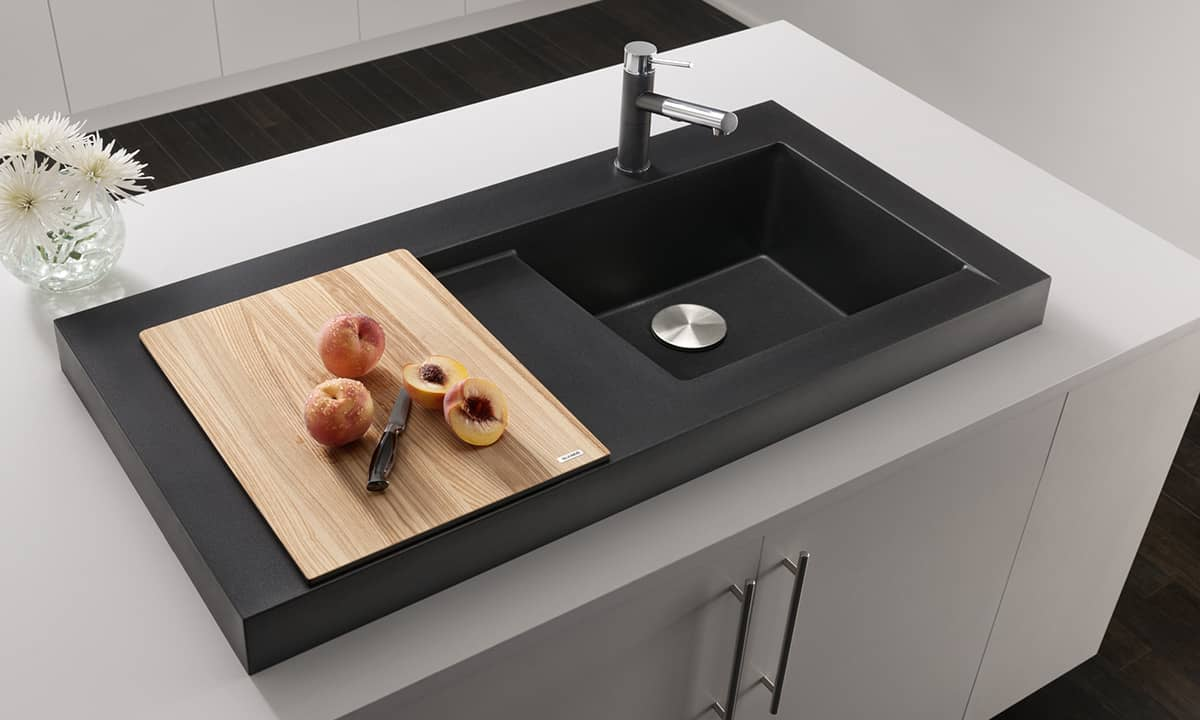 kitchen sinks with drain boards makeover companies raised sink workstation dual draining - modex ...