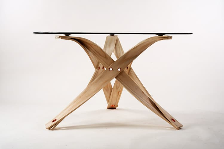 Steam Bent Ash Furniture Assembled With Rivets  By David