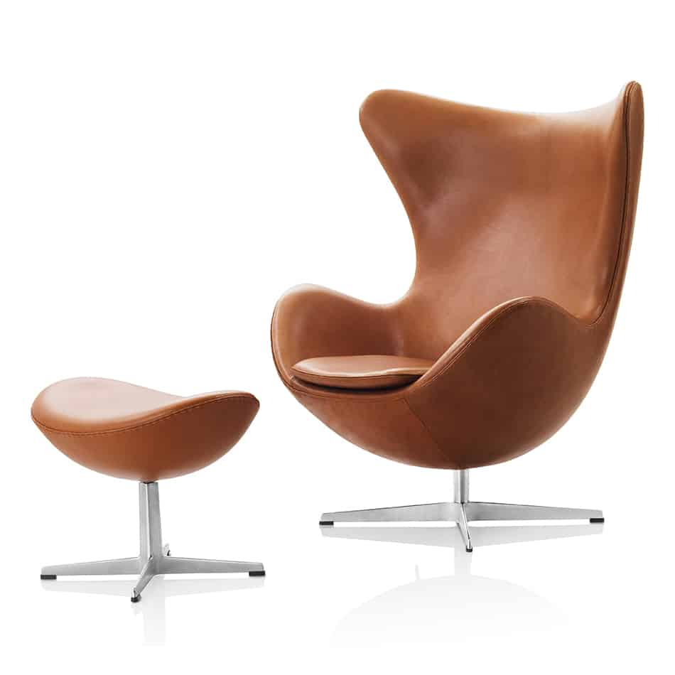 easy chairs with footrests little girls vanity table and chair 10 iconic lounge footstools view in gallery footstool egg arne jacobsen 3