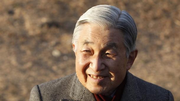 Kaiser Akihito grüßt ein letztes Mal sein Volk zu Neujahr