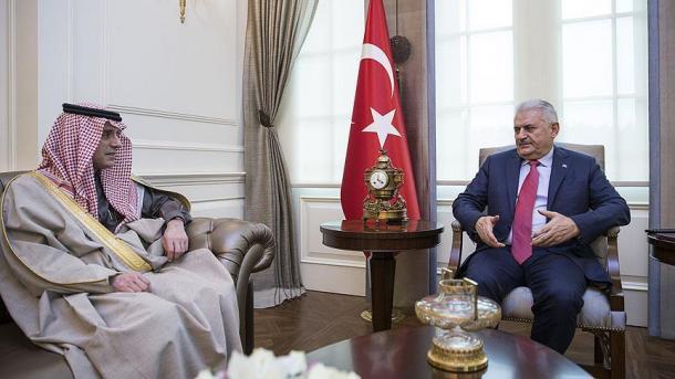 دیدار نخست وزیر ترکیه با وزیر خارجه عربستان سعودی