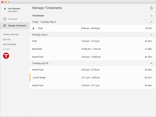 Google Chrome Time Tracker App — TSheets by QuickBooks