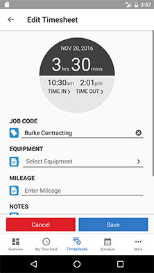 Best Time Tracking App - Time Clock App Android - TSheets