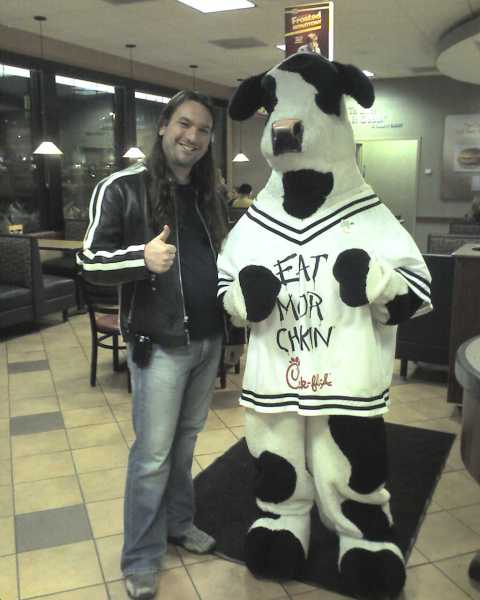 Denny and the cow…